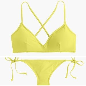J. Crew Swim - J. Crew French Cross-Back String Hipster Bikini